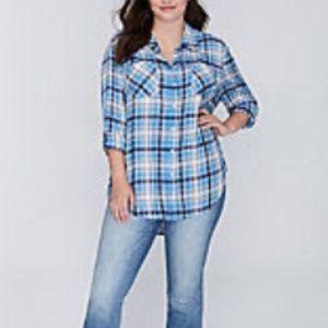 The Plaid Boyfriend Shirt sz 22